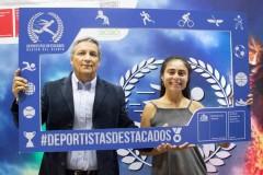 Con su entrenador y Kinesiólogo, Raúl Guarda.