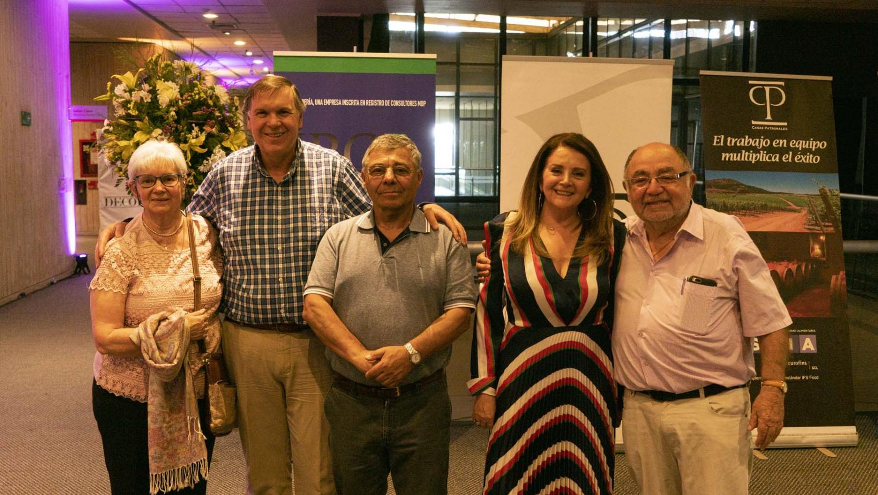 Yerka Yugovic, Pablo Mendoza, Dr. Tulio Soto, María Antonieta Rey y Custodio Moyano