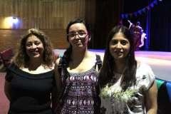 Andrea Martínez, Karla Cerna y Daniela Garcés.