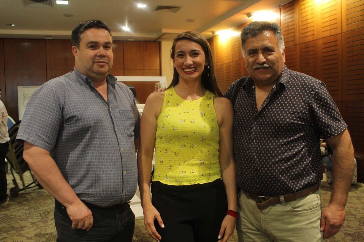 Felipe Rioseco, Patricia Castillo y Rigoberto Chávez