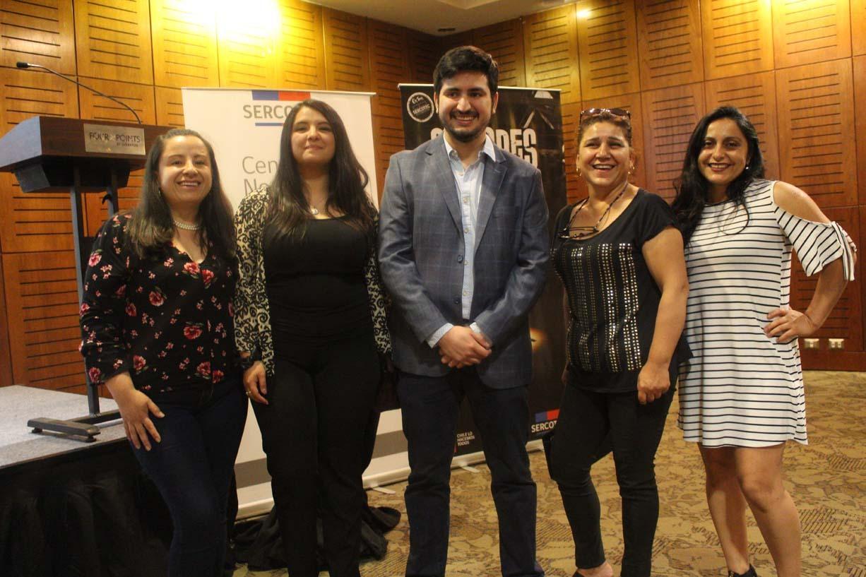 Johanna Bello, Leticia Maldonado, Matías Díaz, Carmen Gloria Sandoval y Ana Pérez