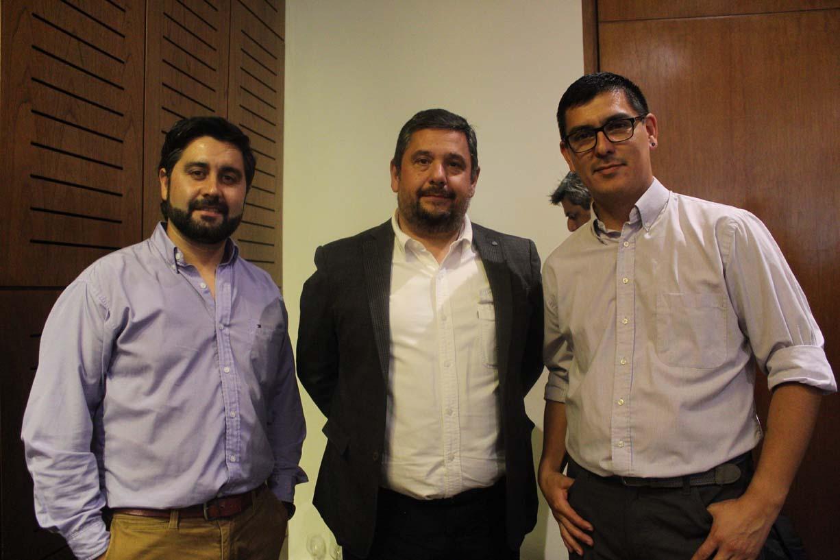 Alexis Arratia, David Barra y Egon Toledo
