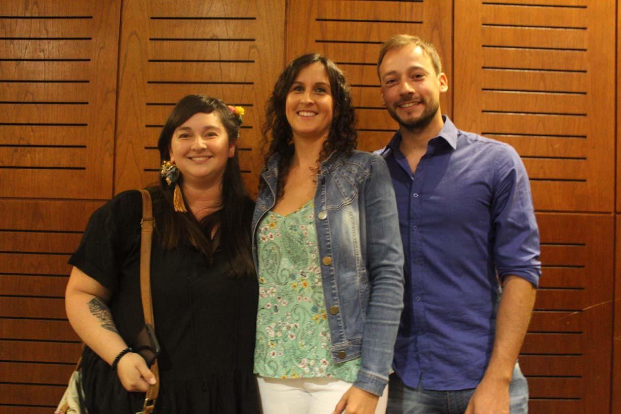 Lilian Sáez, Isidora Reyes y Fernando Lazo