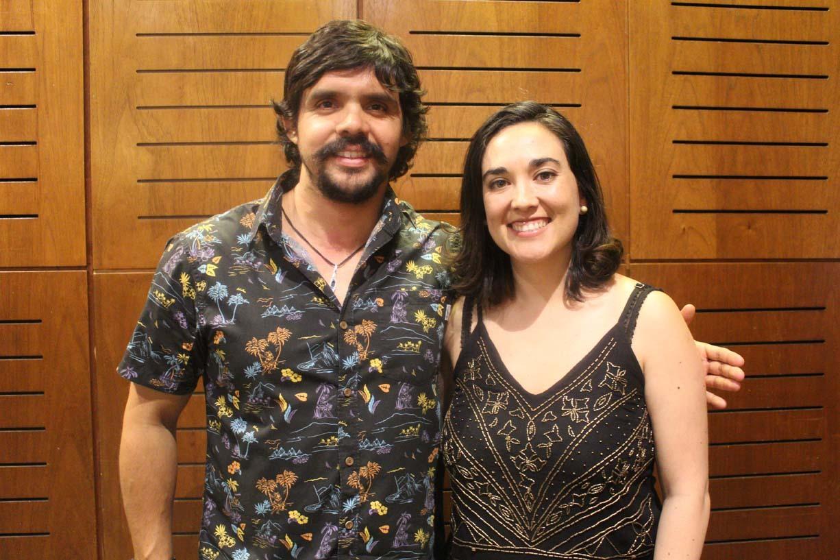 José Espíndola y Camila Gutiérrez