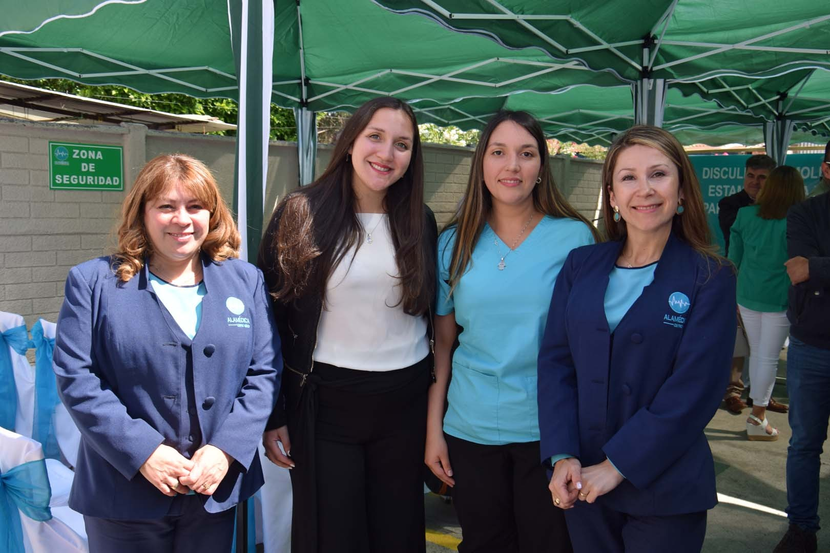 Ángela Castillo, Camila Bustos, Belén González y Lorena Martínez