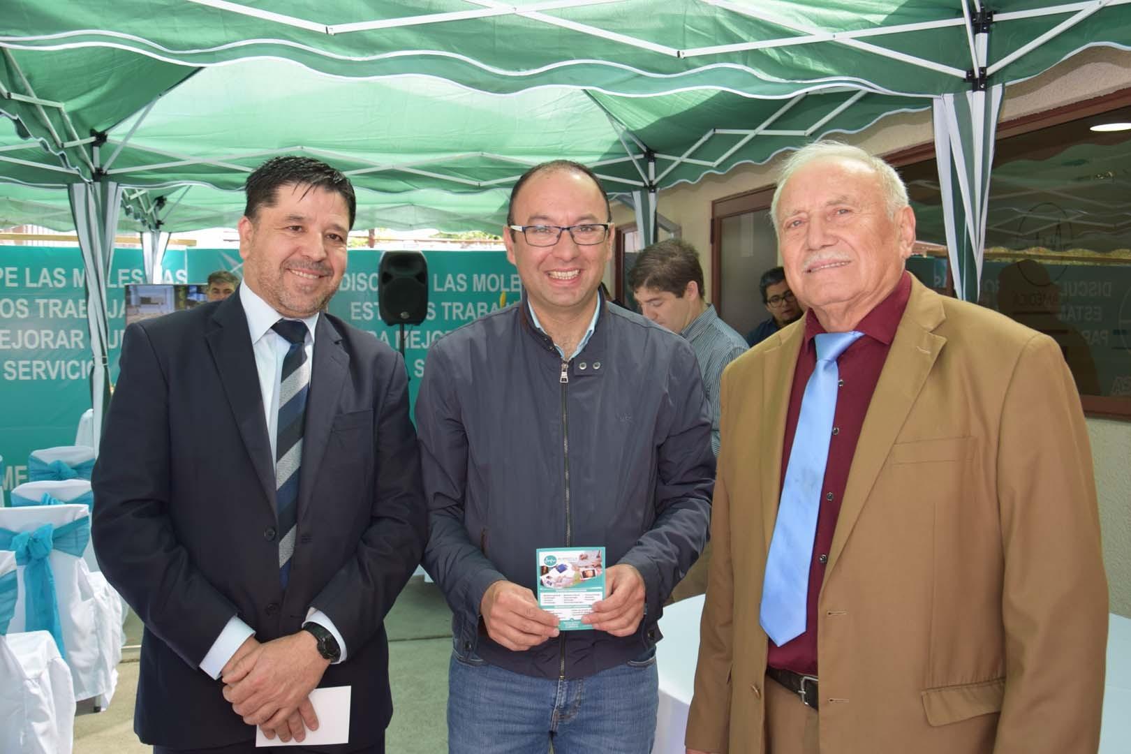 Marcelo Troncoso, Claudio Almuna y Pedro Méndez