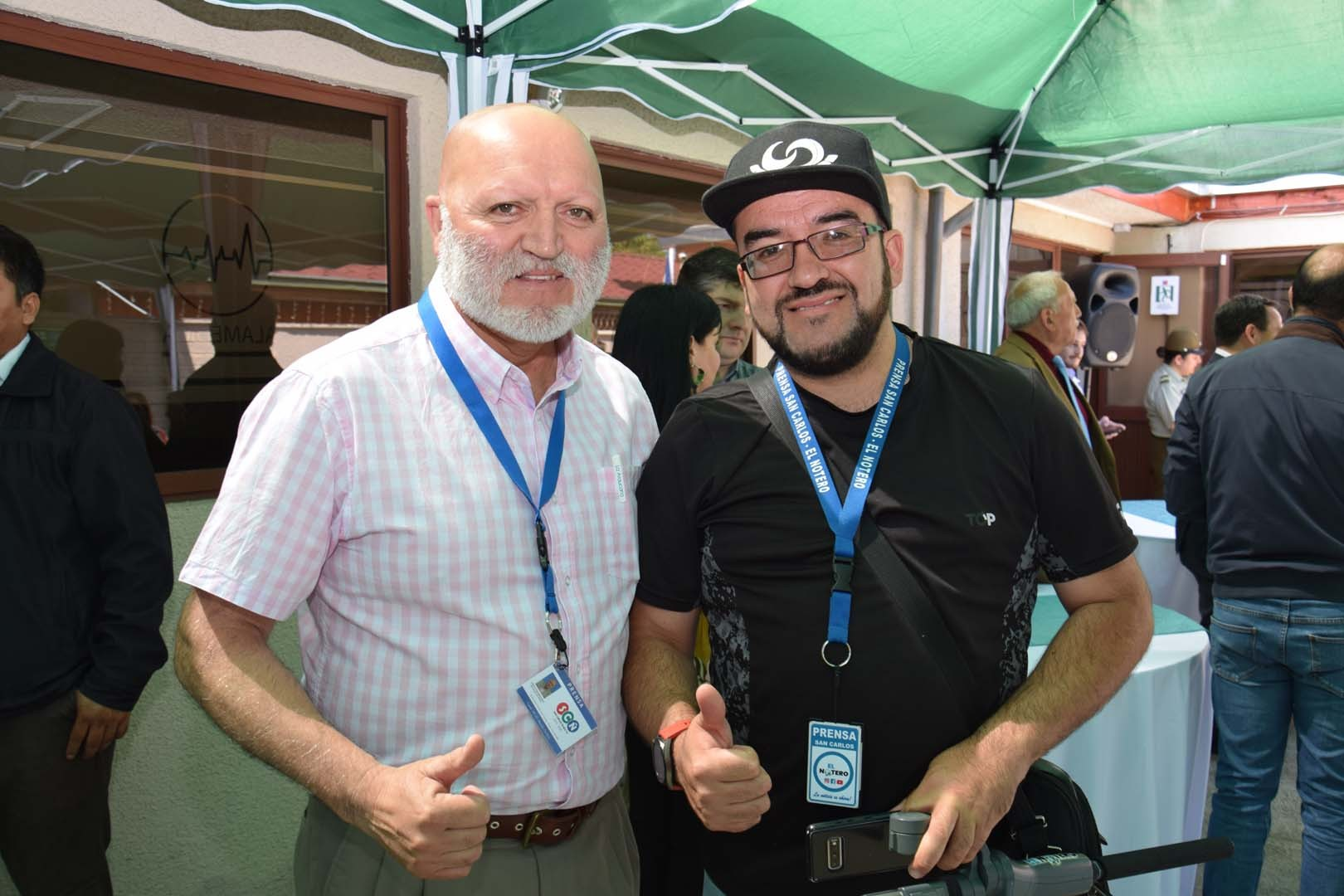 Sergio Bahamondes y Esteban Romero