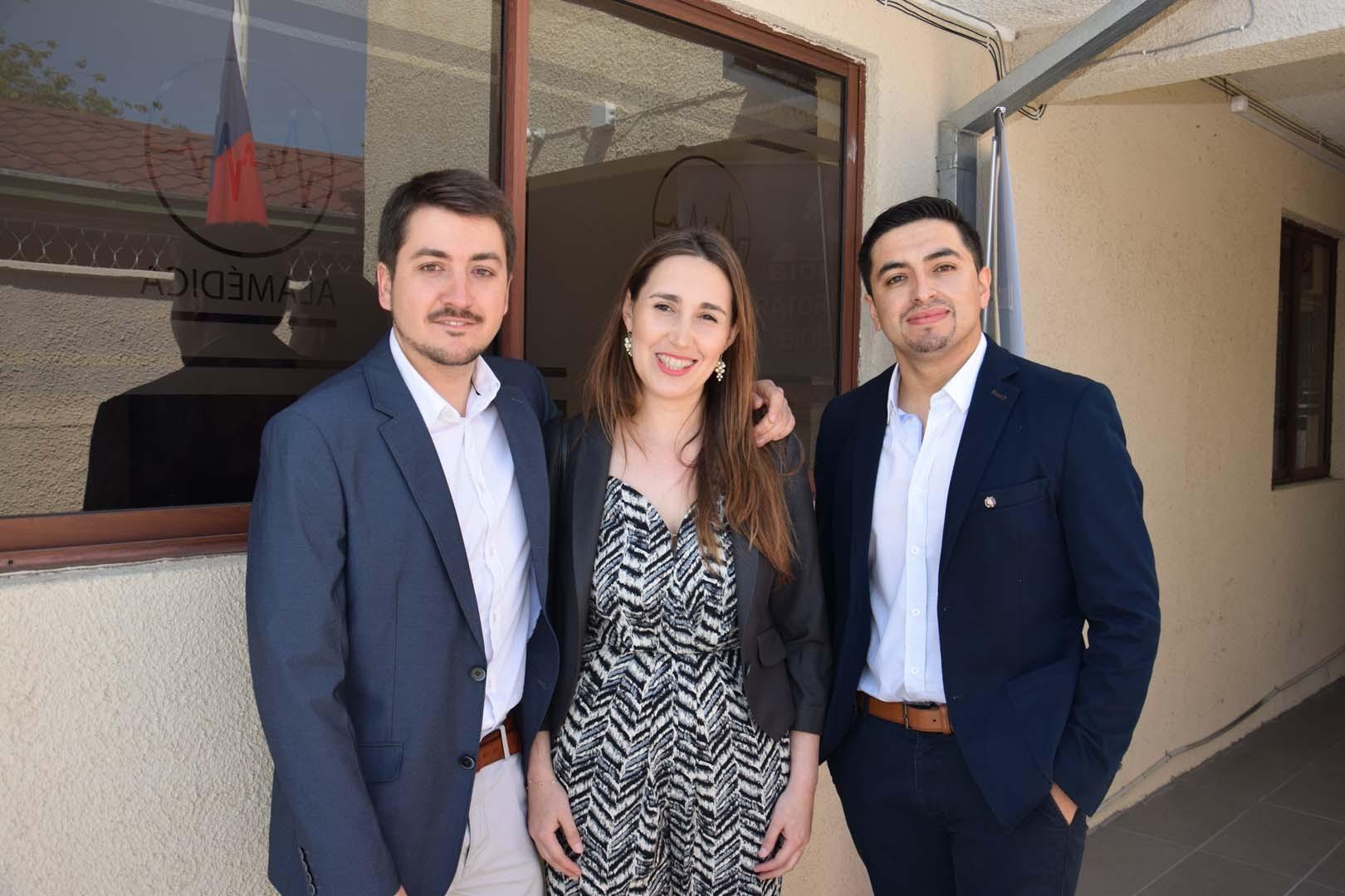 Raimundo Serrano, Virginia Subiabre y Rafael Ramírez