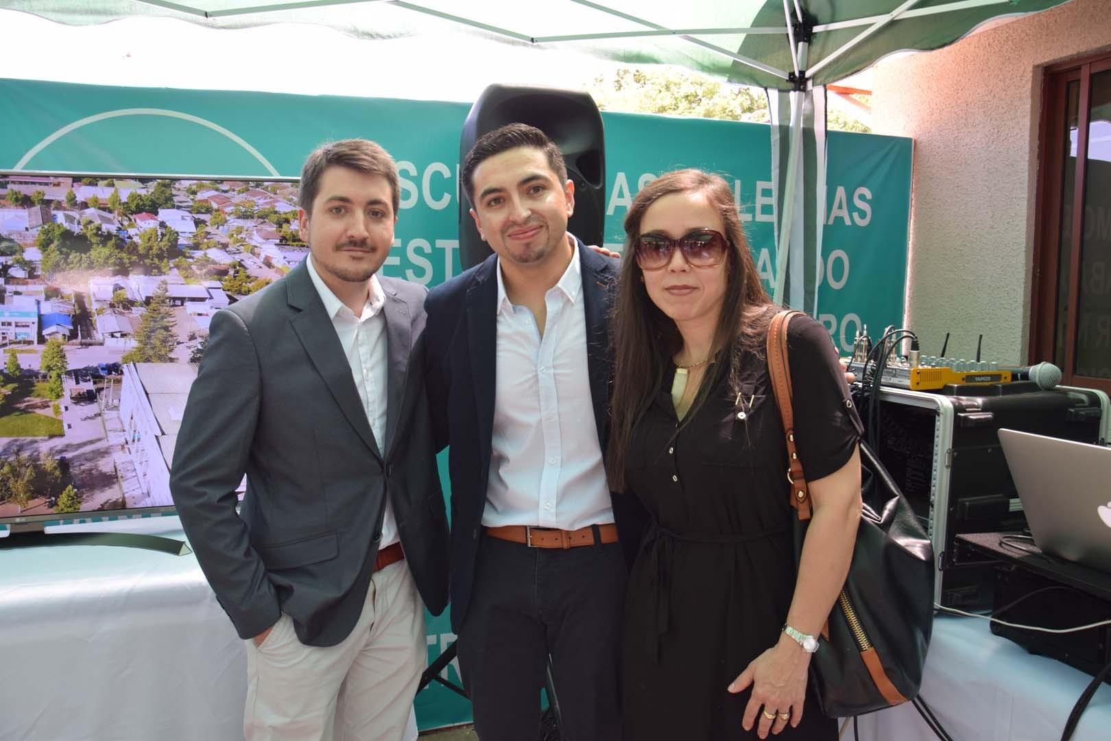 Raimundo Serrano, Rafael Ramírez y Lorena León