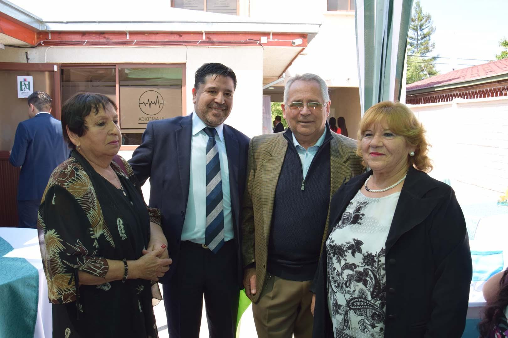 María Teresa Yáñez, Marcelo Troncoso, Gastón Vera y María Angélica Pino