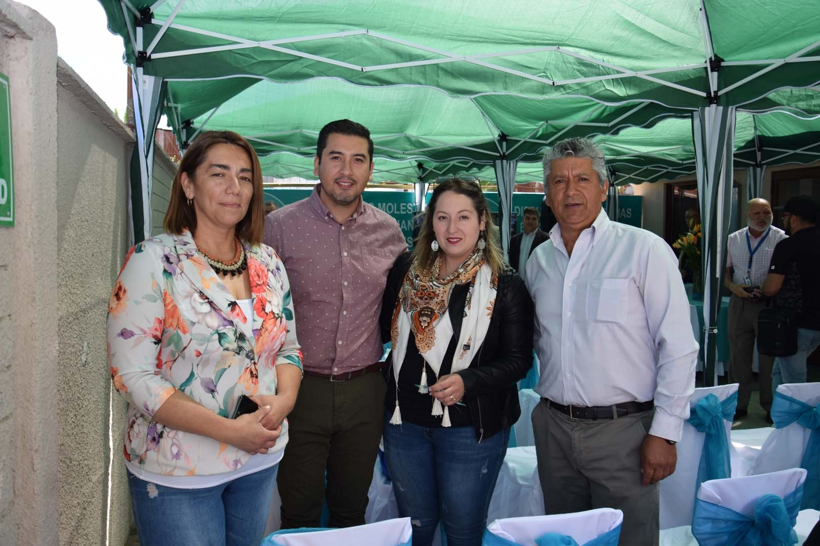 Jhoanna Fuentes, Fernando Parra, Paulina Rodríguez y Fernando Parra Acuña