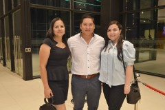 Angélica Carrasco, Carlos Poblete y Viviana Báez.