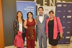 Francisca Molina, Catalina Cofré, Dr. Andrés Rubilar y Minary Jiménez.