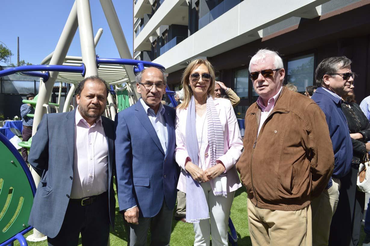 Vladimir Fierro, Miguel Torres, Gloria Gómez y Julio Montecino