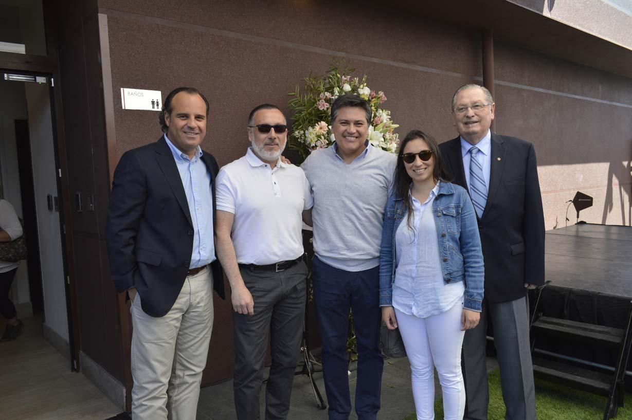 Jorge Gámez, Pablo Zapata, Carlos Belmar, Angélica Muñoz y Ariel Larenas