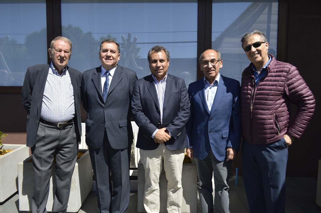 Jorge Trucco, Patricio Huepe, Patricio Poblete, Miguel Torres y René Poblete