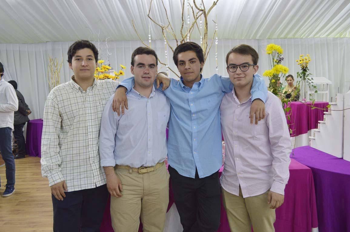 Juan José Herrera, Benjamín García, Pedro Cardemil y Vicente Martínez