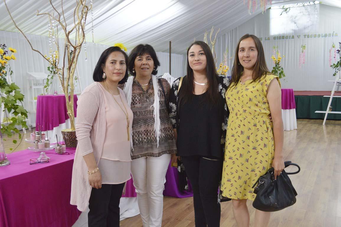 Andrea Silva, Lucy Soto, María Inés Fehrmann y Marieta Vásquez