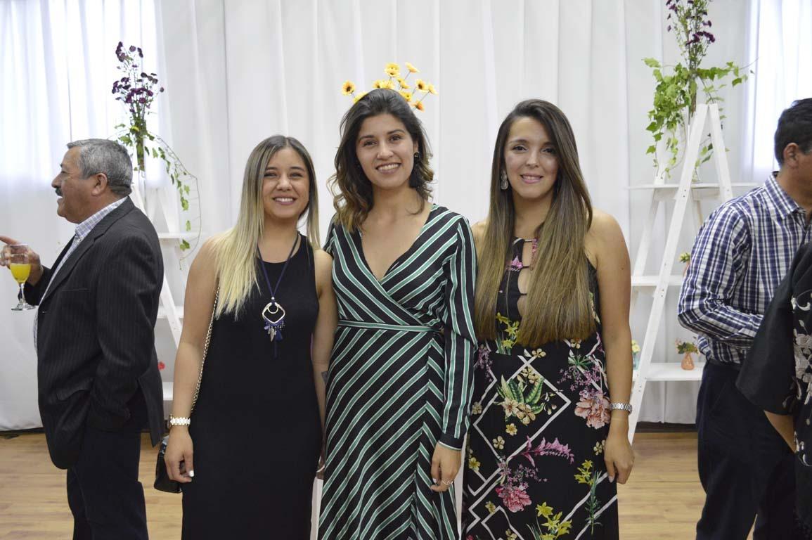 Sofía Coronado, Lilian Montanares y Jessica Fuentes