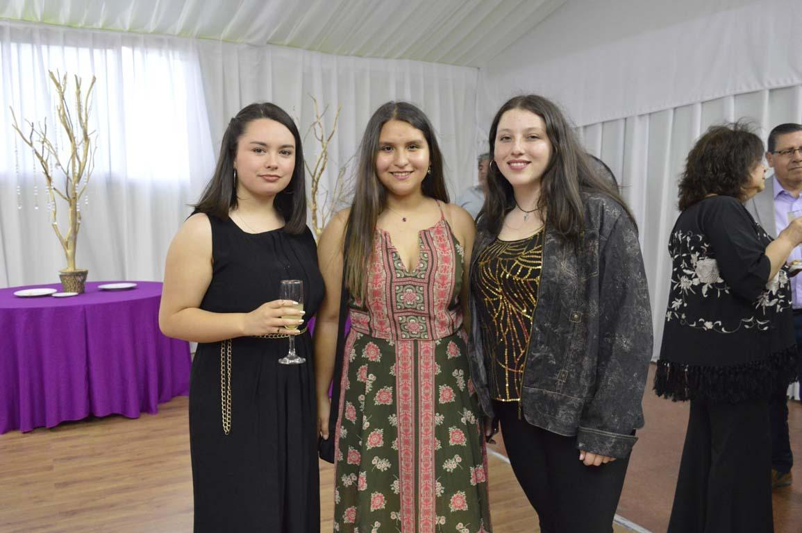 Sofía Canaves, Rocío Fuentealba y Margarita Espinoza