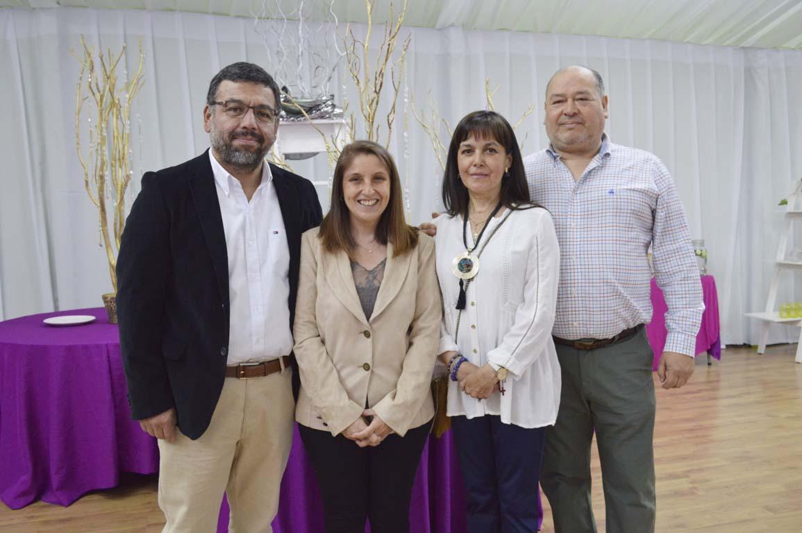 Saúl Espinoza, Pamela Galaz, Sandra Villablanca y Cristián Herrera