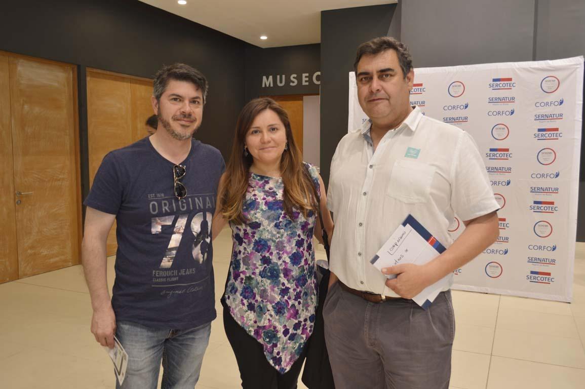 Hernán Henríquez, Soledad Ruiz y Carlos Grau