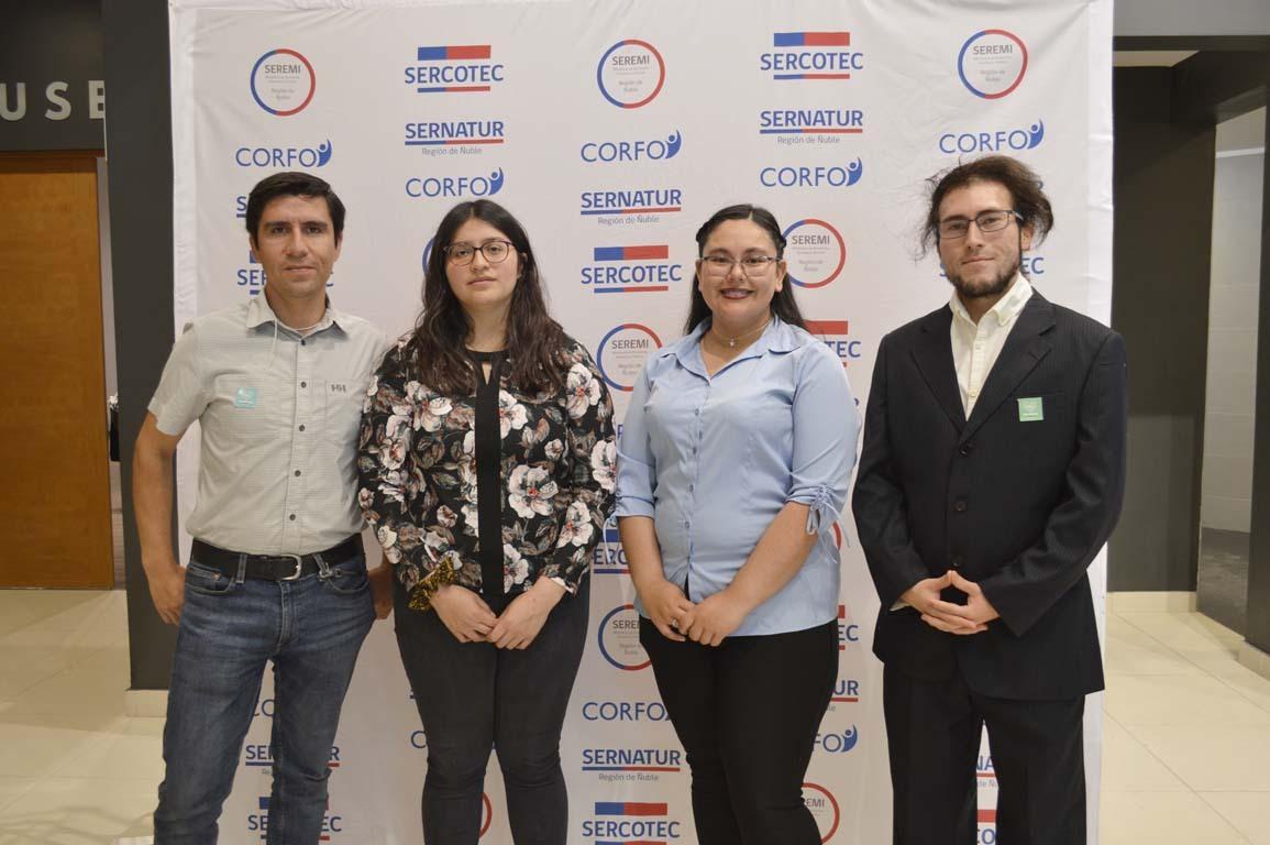 Juan Pablo Fuentes, Nicole Fuentealba, Catherine Palacios y Aldo Borotto