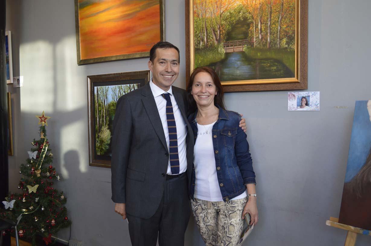 Cristian Mella y Lilian Saavedra