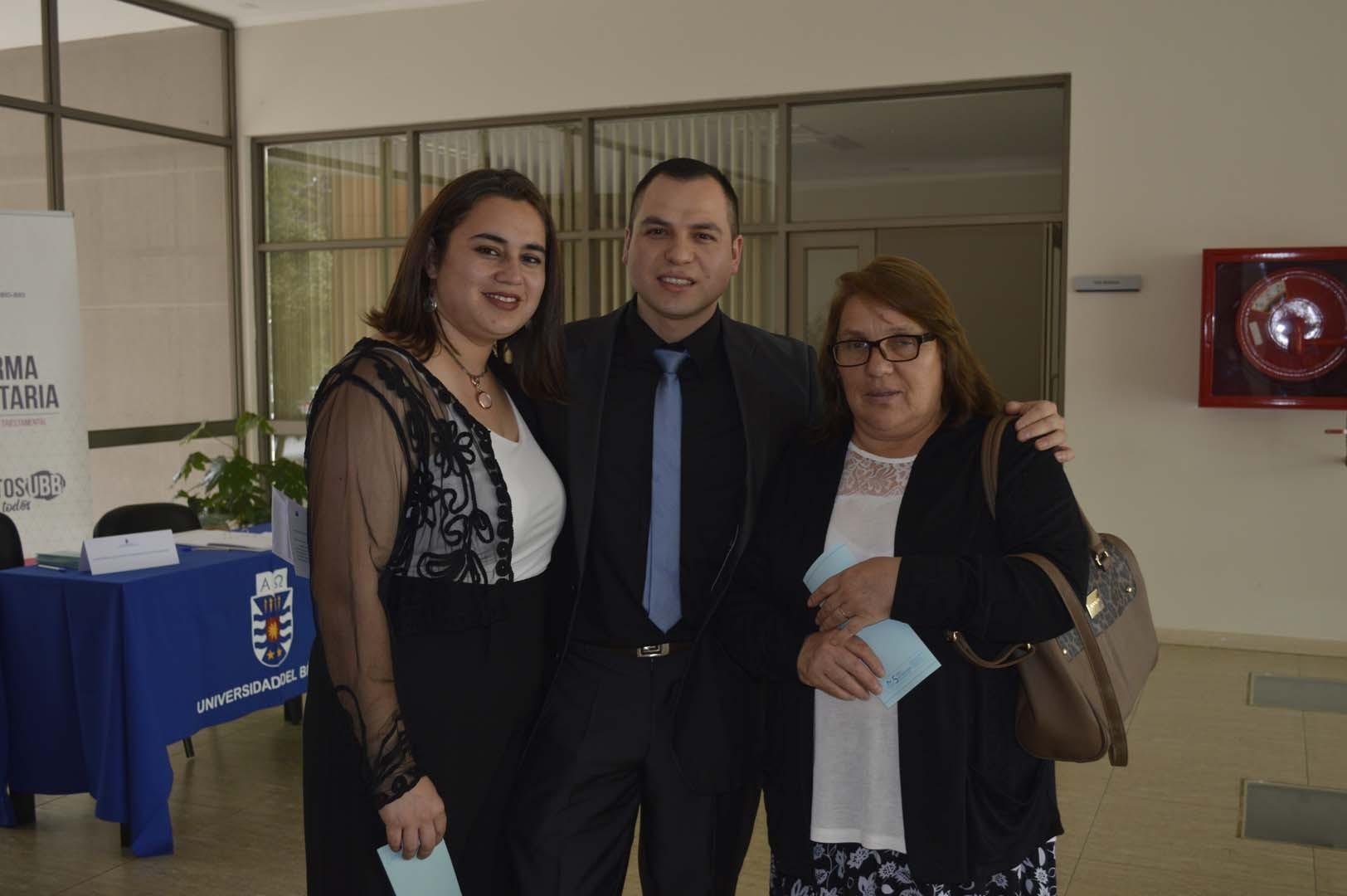 Merian Muñoz, Marcelo Garay y Miriam Espinoza