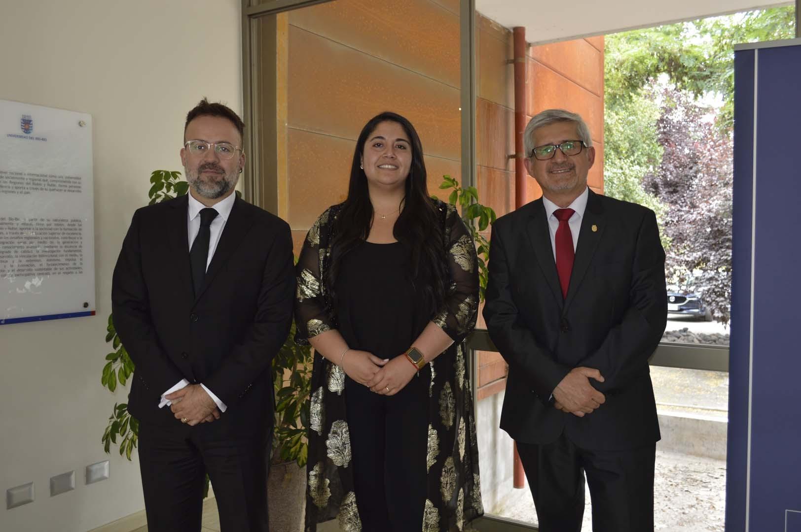 Álvaro Acuña (Jefe de Carrera Ingeniería Comercial), Constanza Olguín (Coordinadora ejecutiva de Programas Especiales de Continuidad de Estudios) y Manuel Crisosto (Secretario Académico FACE)