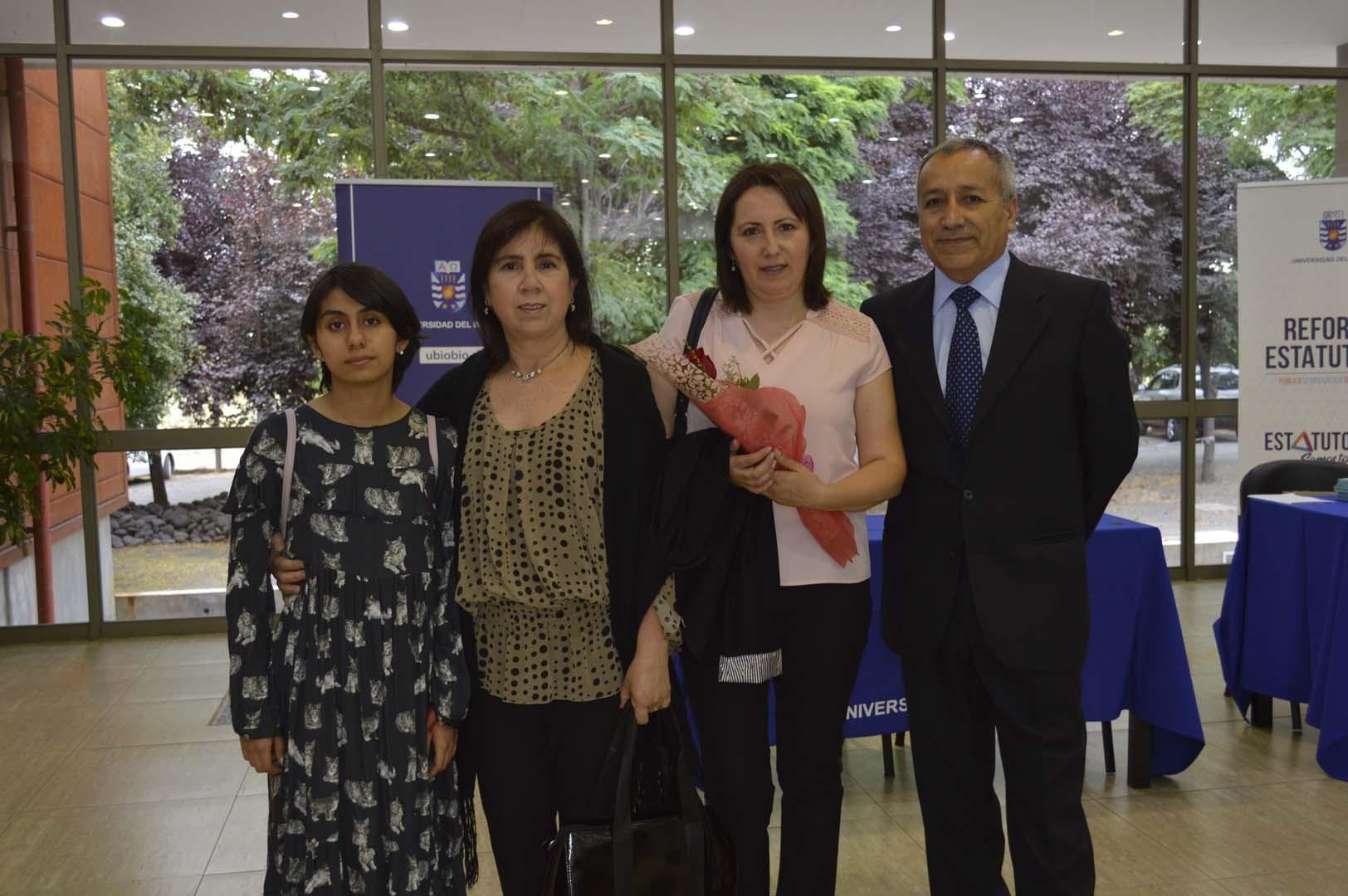 Brisa Padilla, Marianela Zapata, Marisol Padilla y Manuel Padilla