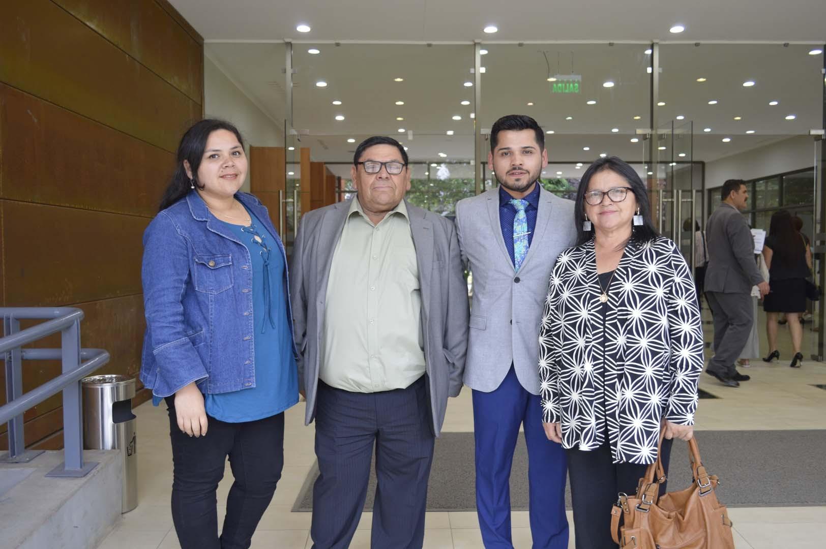 Alicia Mora, Héctor Mora, José Mora y Marta Avilés