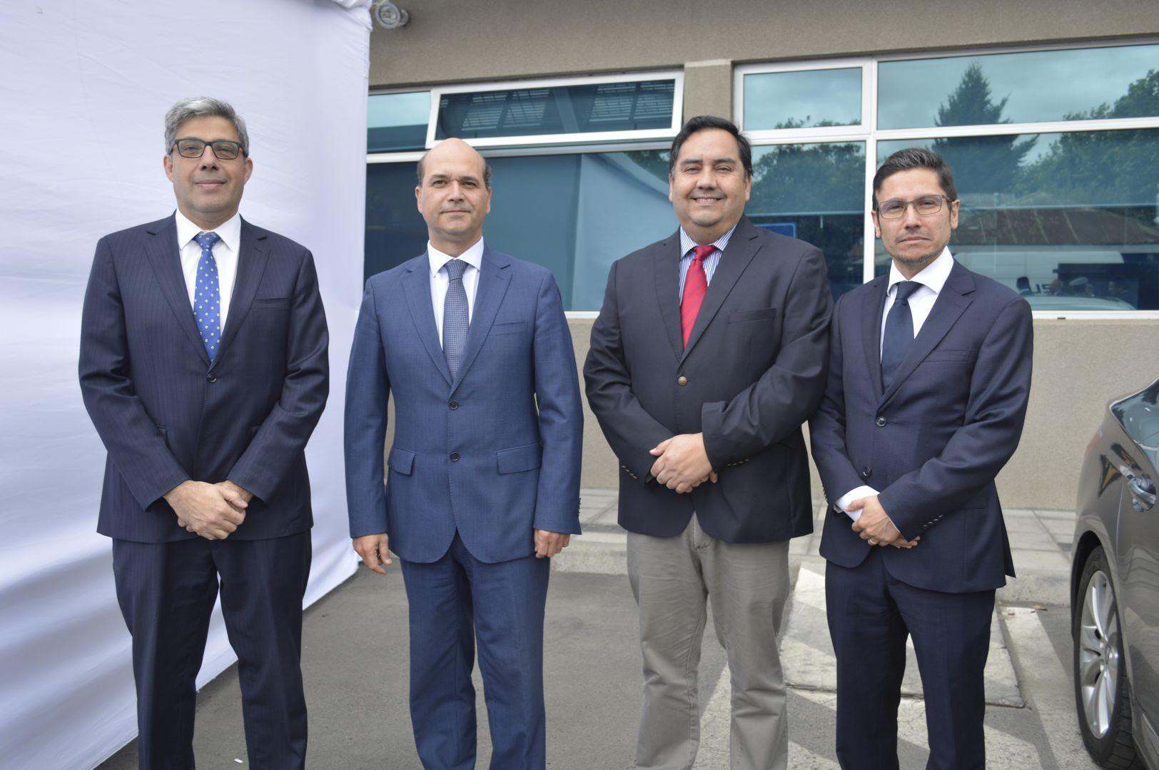 Rolando Canahuate, Julio Contardo (Fiscal Regional de Maule), Mauricio Mieres y Mario Lobos