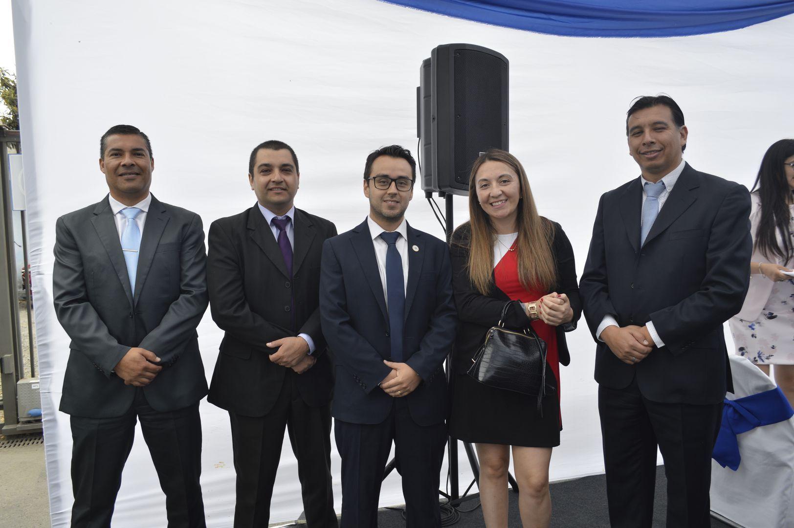 Marcelo Cea, Mauricio López, Gustavo Andrades, Antonieta Sills y José Figueroa