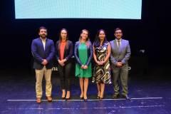 Hans Heyer, Stella Moisan, Claudia Mora Rojas, Ingrid Rebolledo y Rodrigo Palacios.
