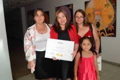 Blanca Ávila, Ximena Muñoz, María Fernanda Muñoz y la niña María Jesús Garay.