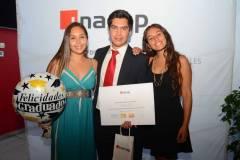 Constanza González, Felipe Rojas y Fernanda Lobos.