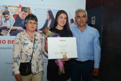 María Mora, Carla Salas Mora y José Salas.