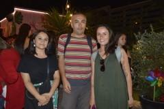 Tamara Ávila, Fredy San Martín y Rocío Celeste.
