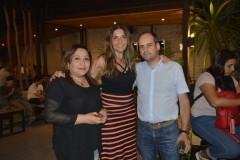 Silvia Daza, Karina Maureira y Álvaro Campos.