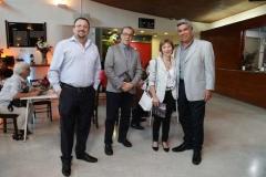 Manuel Rojas, Mario Córdova, Claudia Ramírez y Carlos Díaz.