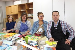 1-Ruth Parra, Neli Valdés, Paula San Martín, y Cristian Espinoza.