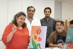4- Janet Ormeño,  Esteban Cárdenas, Hanss Rivera y Mario Villalobos.