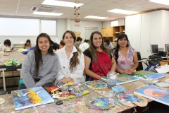5- Katia Rubilar, Andrea Torres, Camila Araya y Karina Salcedo.