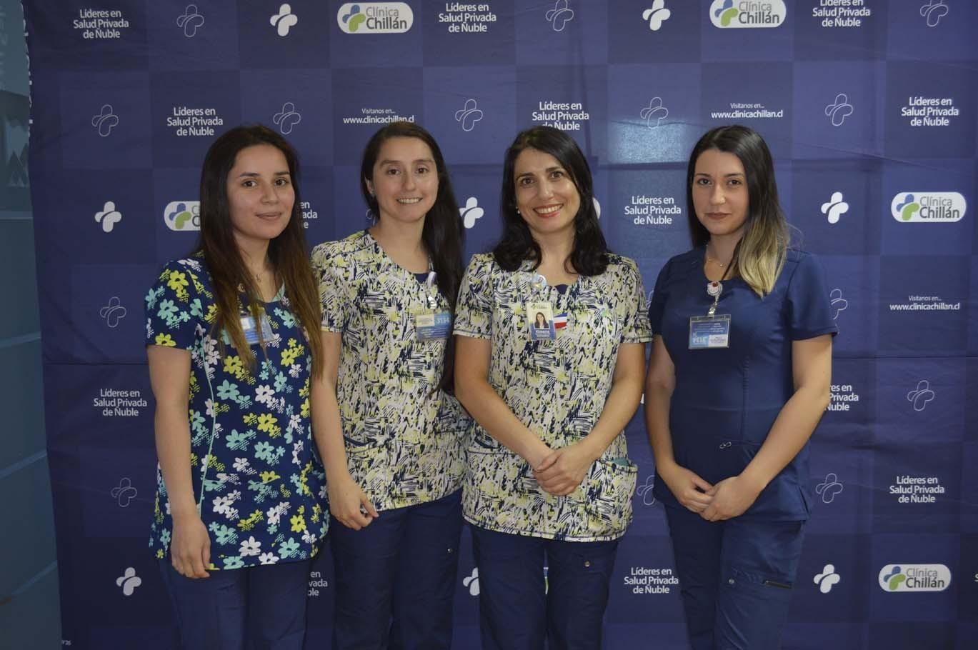 Paola Vilches, Kennia Jara, Jimena Guzmán y Macarena Coloma