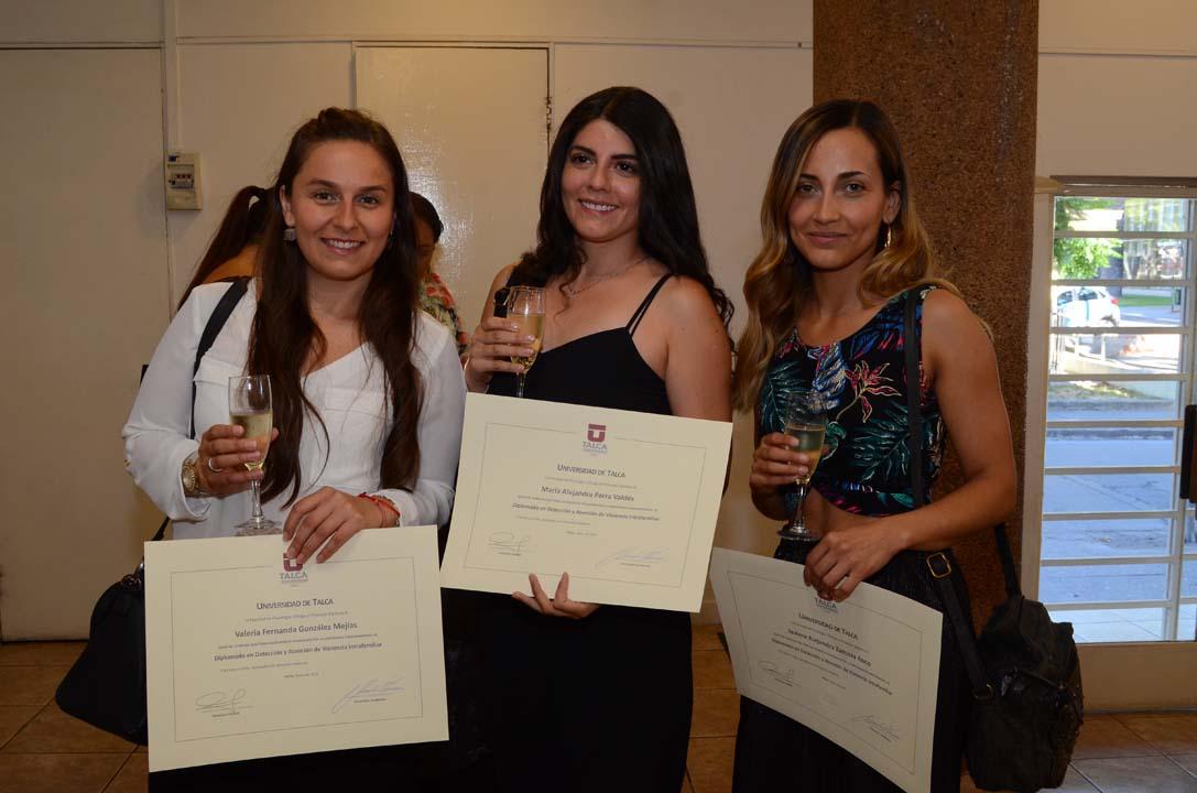 Valeria González, Alejandra Parra y Javiera Zamora