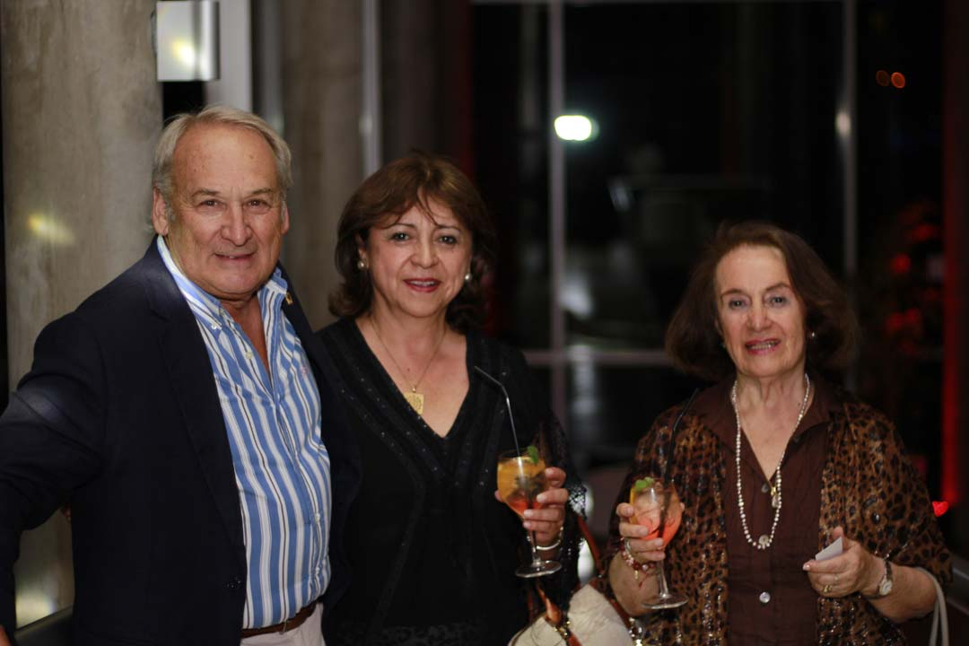Hipólito Castillo, Aida Perfetti y María Eliana