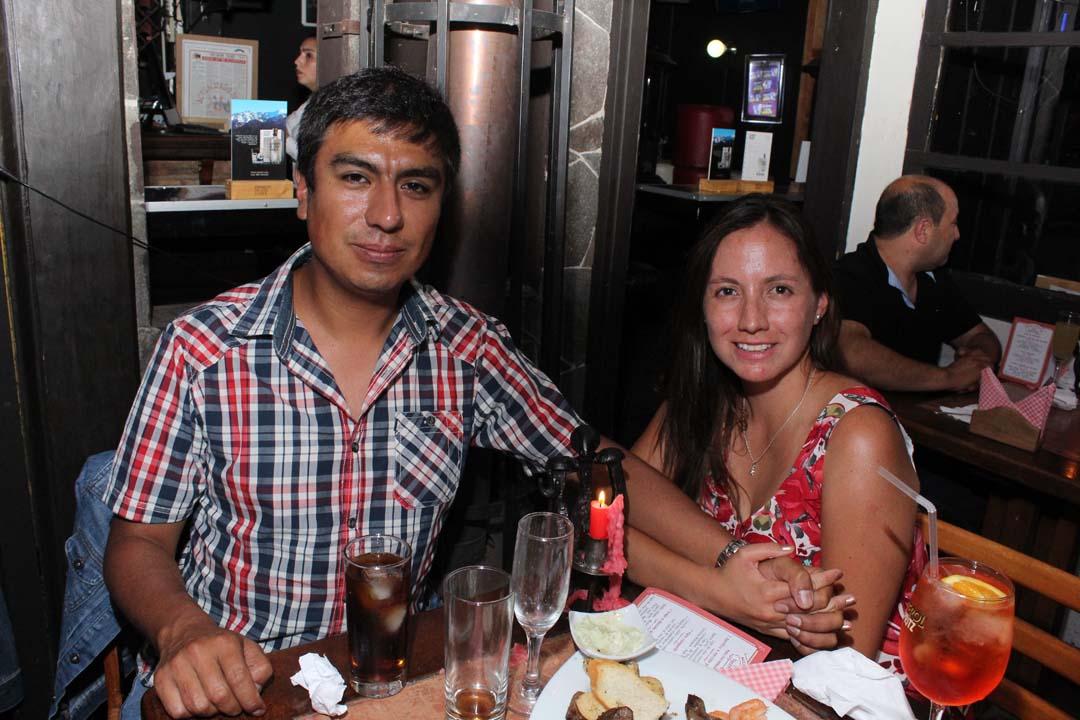 Marco Campos y Gabriela Salinas