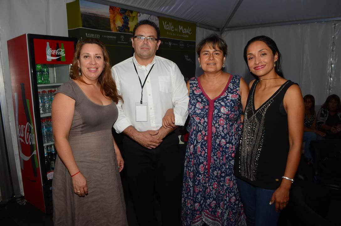 Gloria González, Jorge Vidal, Paola Donoso y Valeria Videla