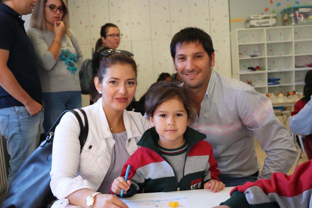 Andrea Urra, Amanda Campos y Andrés Campos